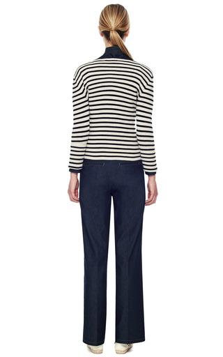 Stripe Cashmere Pullover by VALENTINO Now Available on Moda Operandi