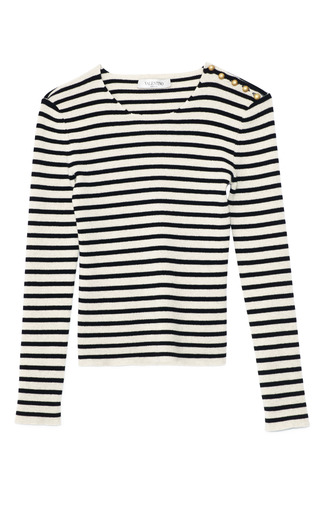 Medium valentino stripe stripe cashmere pullover