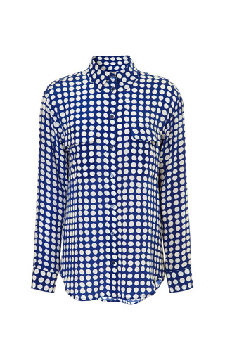 Medium equipment blue equipment archive crowded dot printed signature shirt 2