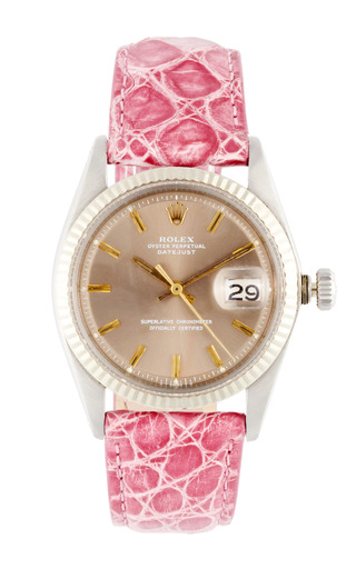 Medium vintage rolex watches pink vintage rolex stainless steel and 18k white gold datejust with grey dial