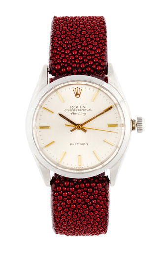 Medium vintage rolex watches red vintage rolex stainless steel air king with gold markers and hands