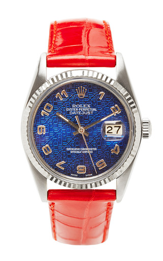 Medium vintage rolex watches red vintage rolex stainless steel and white gold quickset datejust rare jubilee dial