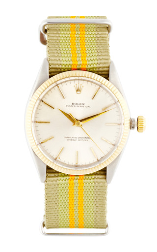 Medium vintage rolex watches green vintage rolex stainless steel and yellow gold oyster perpetual watch