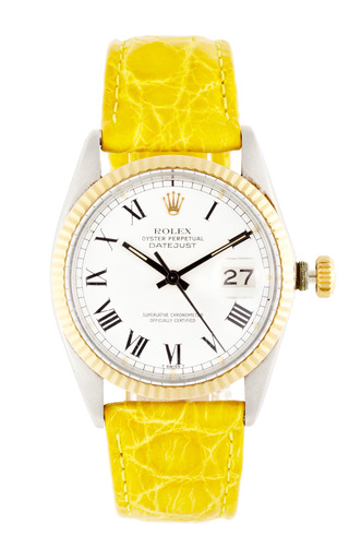 Medium vintage rolex watches yellow vintage rolex stainless steel and white gold quickset datejust rare buckley dial