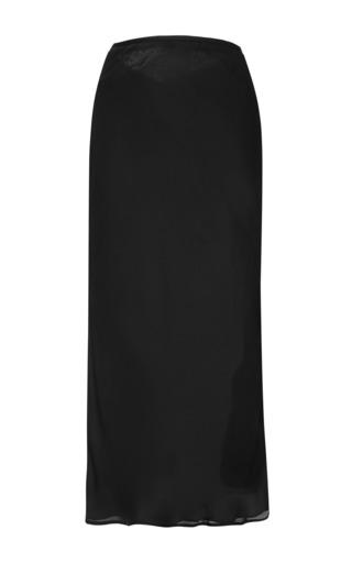 Medium christopher esber black bias side slit skirt