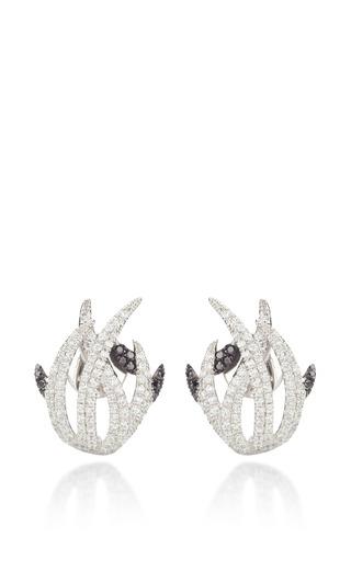 Medium as29 white forest earrings
