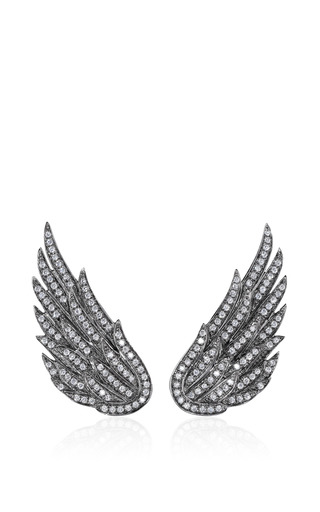 Medium as29 white studs wings earrings 2