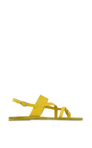 Medium ancient greek sandals yellow alethea sandal in all yellow