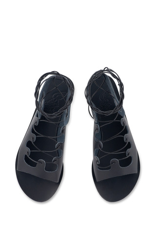 Antigone Sandal In Black by ANCIENT GREEK SANDALS for Preorder on Moda Operandi