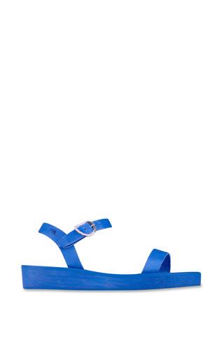 Medium ancient greek sandals blue drama sandal in all blue