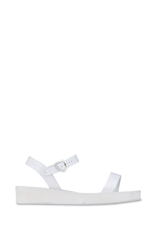 Medium ancient greek sandals white drama platform sandal in all white