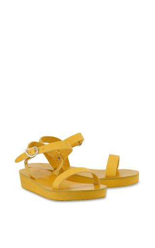 Drama Platform Sandal In All Yellow by ANCIENT GREEK SANDALS for Preorder on Moda Operandi