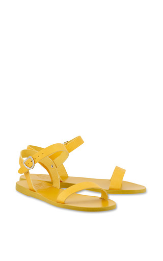 Drama Sandal In All Yellow by ANCIENT GREEK SANDALS for Preorder on Moda Operandi