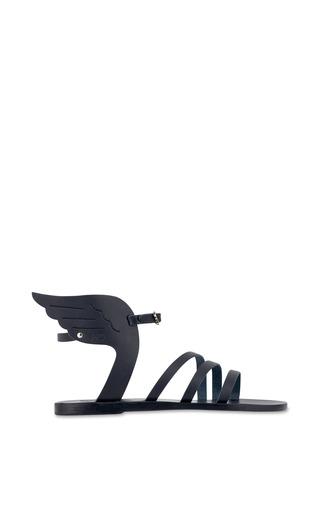 Medium ancient greek sandals black ikaria sandal in all black