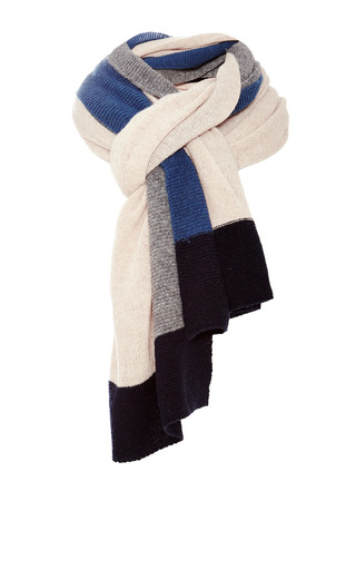 Medium inverni blue multicolor cashmere scarf 2