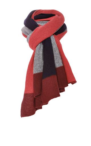 Medium inverni red multicolor cashmere scarf