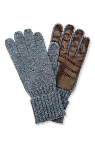 Medium inverni dark grey mens cashmere gloves