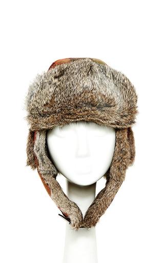 Medium inverni multi wool trapper hat with rabbit fur
