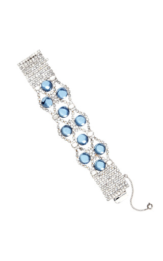 Medium carole tanenbaum white vintage diamante and scattered crystal bracelet