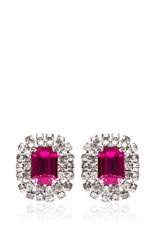 Vintage Violet Emerald Cut Earrings by CAROLE TANENBAUM for Preorder on Moda Operandi