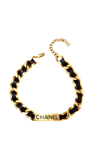 Vintage Chanel Labeled Choker Necklace by CAROLE TANENBAUM for Preorder on Moda Operandi