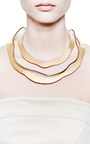 Vintage Jacques Le Corre Gold Three Layer Necklace by CAROLE TANENBAUM for Preorder on Moda Operandi