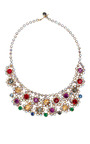 Vintage Multicolor Crystal Small Bib Necklace by CAROLE TANENBAUM for Preorder on Moda Operandi