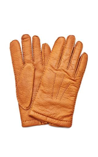 Medium merola gloves brown mens pecary leather gloves