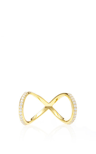 Medium fallon gold pave infinity ring