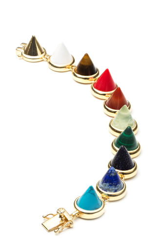 Medium eddie borgo multi gemstone cone bracelet