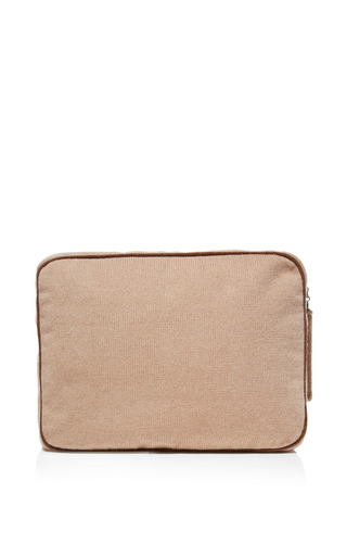 Cashmere Bag With Silk Mask And Socks by MONOGRAMMED LINEN SHOP Now Available on Moda Operandi