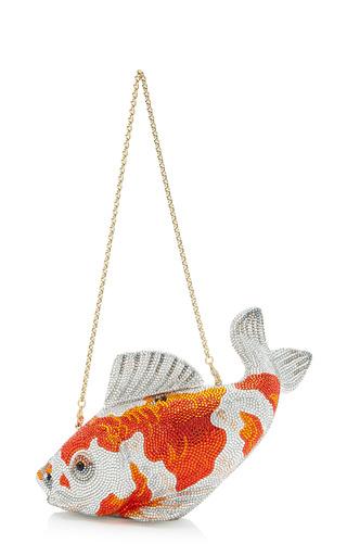 Judith leiber ginrin kohaku koi fish clutch encrusted for Koi fish purse