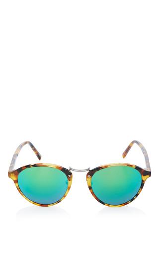 Medium spektre multi spektre audacia sunglasses in havana with green mirror lens