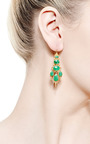 Oval Jade Chandelier Earrings by MALLARY MARKS for Preorder on Moda Operandi