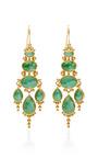 Oval Jade Chandelier Earrings by MALLARY MARKS for Preorder on Moda Operandi