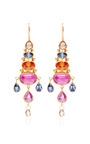 Rose Cut Pear Shape Brown Diamond Chandelier Earrings by MALLARY MARKS for Preorder on Moda Operandi