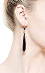 One Of A Kind Black Sapphire Apple And Eve Earrings by MALLARY MARKS for Preorder on Moda Operandi