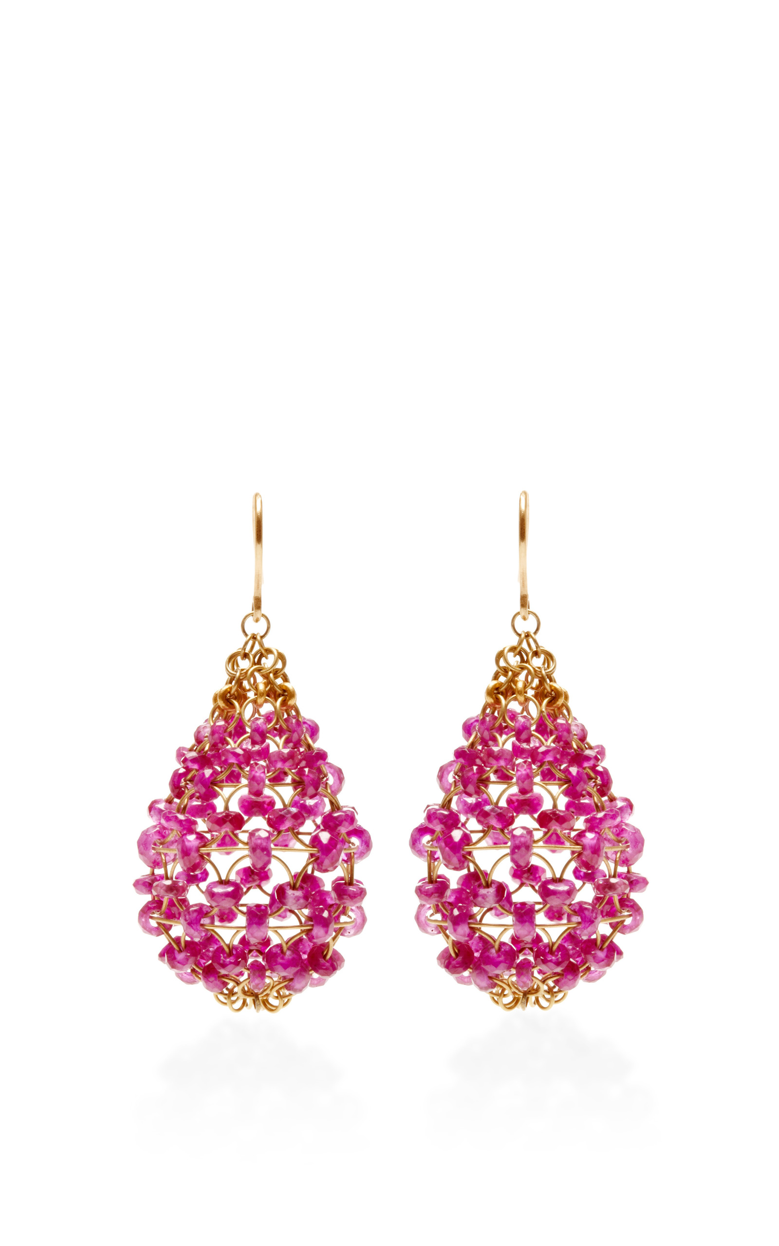 Ruby Russian Dome Earrings