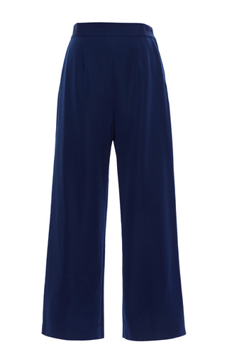 Medium apiece apart navy marco wide leg trousers in navy