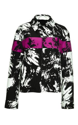 Medium alexander wang print single breasted zipped workwear jacket