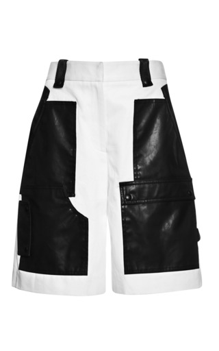Medium alexander wang white cargo short with webbing detail in bleach