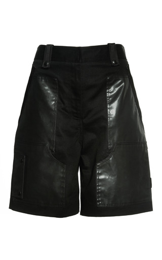 Medium alexander wang black cargo short with webbing detail in matrix