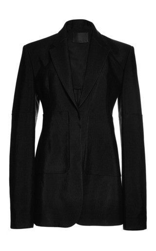 Medium alexander wang black high waisted blazer with oversized patch pockets