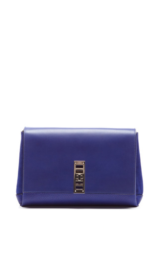 Medium proenza schouler blue elliot clutch in dark blue