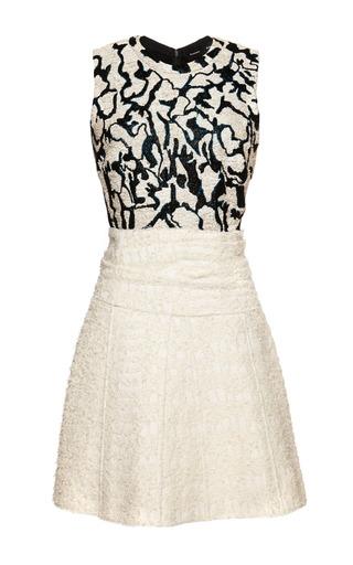 Medium proenza schouler print plaster jacquard coating sleeveless dress