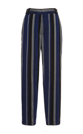Medium proenza schouler print striped crepe suiting slim pant