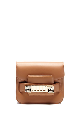 Medium proenza schouler brown ps11 tiny in biscotti leather