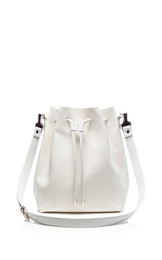 Medium proenza schouler white large bucket bag in white leather