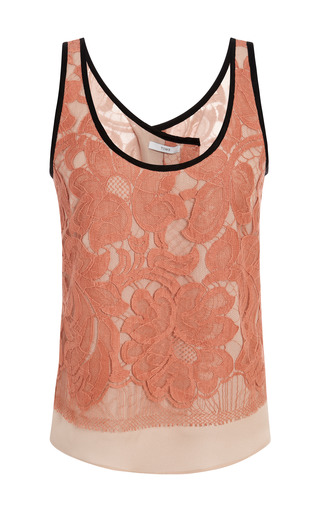 Medium tome pink lace open back tank