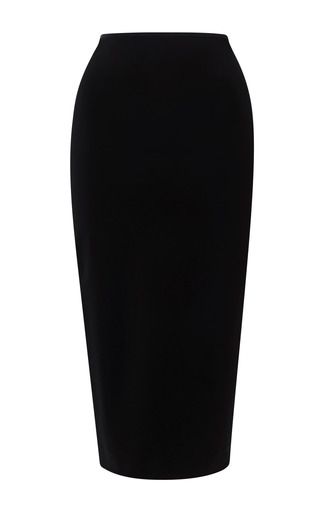 Medium tome black ponti tube skirt
